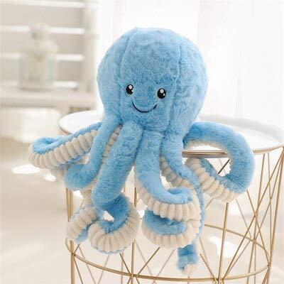 Bleu 15cm CGDX Belle Mignon Octopus en Peluche Jouets en Peluche Jouets en Peluche Octopus Poupée Jouets pour Enfants Filles Décoration De La Maison Cadeaux d'anniversaire Blanc 80 cm