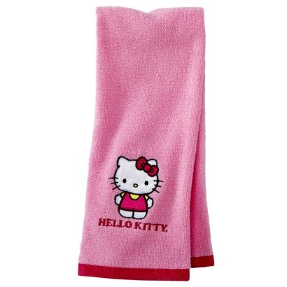 Price comparison product image Hello Kitty Embroidered Pink Hand Towel - 16 in x 28 in