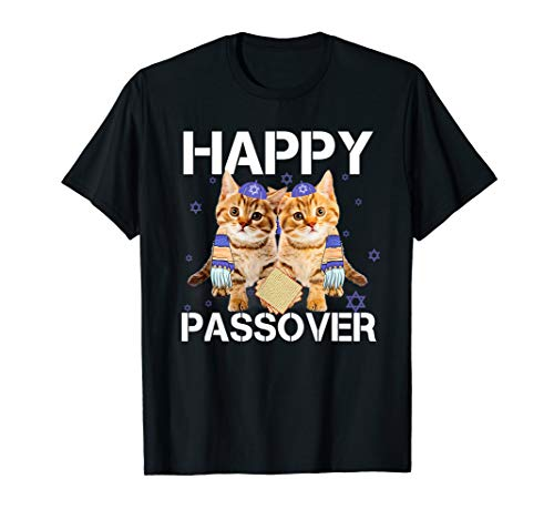 Price comparison product image Pesach Hebrew Cat Tee Happy Jewish Passover T-shirt Gifts