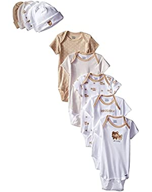 Gerber Baby Girls' 10 Piece Onesies and Cap Bundle