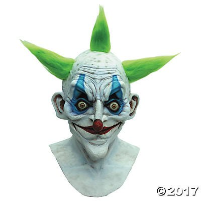 Old Crazy Clown Circus Adult Costume Mask