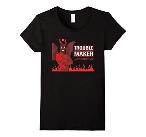 Womens Trouble Maker Devil Popular Halloween Costume Idea Medium Black