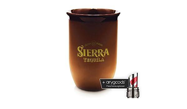 Sierra Tequila Terracota Taza, marca Cristal, Goldenes Logo ...