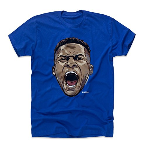 500 LEVEL Russell Westbrook Cotton Shirt Small Royal Blue - Vintage Oklahoma City Basketball Men's Apparel - Russell Westbrook Scream N WHT