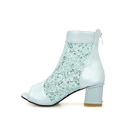 AmoonyFashion Womens Pu Solid Zipper Open Toe Kitten Heels Sandals Blue MhCTcX1YcM