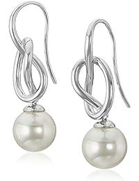 Women's 10mm Round Knot Earrings