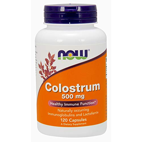 (Now Colostrum 500 mg 120 Veg Capsules [1])