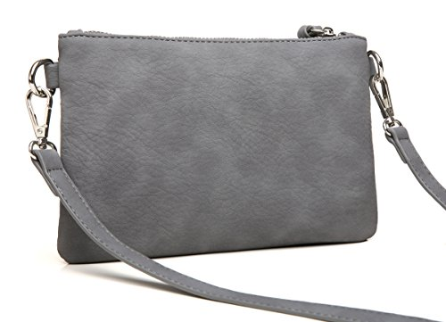 Purse Lightweight Zipper Pocket Aitbags Wristlet Handbag Multi Clutch Functional Grey Crossbody 6XPnUU4Y