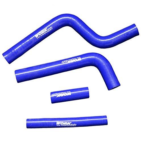 (aluminum alloy radiator for YAMAHA YZ250 YZ 250 1996 1997 1998 1999 2000 2001 (hose blue))