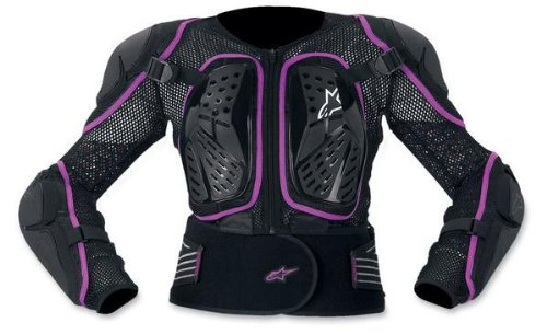 Alpinestars Stella Bionic 2 Jacket Women's Protector Sports Bike Motorcycle Body Armor - Black/Violet / Small (Alpinestars Armor Jacket)