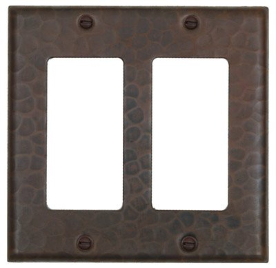 LSC102 Hammermarc Copper Double Switch Cover-Decora Flat Switch with Screws by Hammermarc