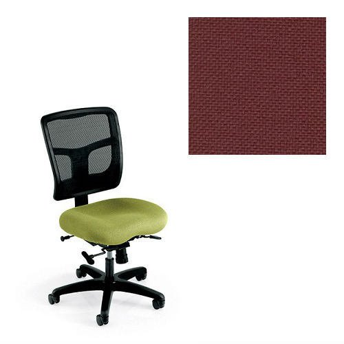 Office Master YS74-1013 Yes Series Mesh Back Multi Adjustable Ergonomic Office Chair - Grade 1 Fabric - Basic Burgundy (Chair Task Multi Burgundy)