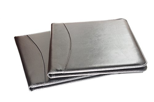 Leather Portfolio Folder, 2 Professional Leather Padfolio Folders, Great for Your Office, for College Students or for Carrying Your Resume to Job Interviews by Keeble Outlets (Image #4)