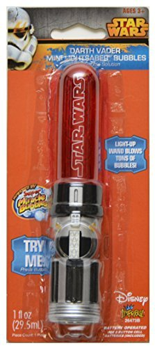 Star Wars Darth Vader Mini Lightsaber Bubbles Wand with Bubble Solution -