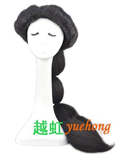 [Yuehong Long Black Anime Cosplay Wig Classic Halloween Cosplay Full Wig] (Black Jasmine Wig)