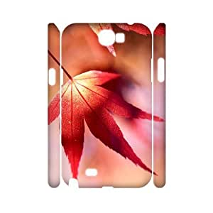 Maple Leaf 3D-Printed ZLB572757 DIY 3D Phone Case for Samsung Galaxy Note 2 N7100