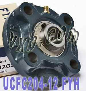 """FYH UCFC-206-19 1 3//16/"""" Round Flanged Bearing Mounted Bearings 17081"""