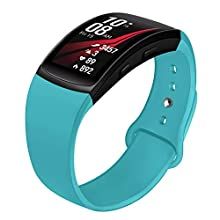 Compatible with Gear Fit 2 Band/Gear Fit 2 Pro Bands, NAHAI Soft Silicone Replacement Bands Wristband for Samsung Gear Fit 2 and Fit 2 Pro Smartwatch, Small, Teal