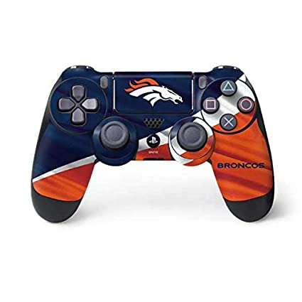Amazon.com : Skinit Denver Broncos PS4 Controller Skin - Officially Licensed NFL Gaming Decal - Ultra Thin, Lightweight Vinyl Decal Protection : Sports & ...