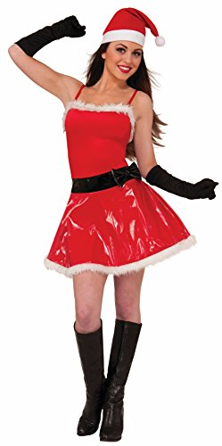 Forum Novelties Women's Naughty Girl Sassy Santa Costume, Red, Medium/Large (Sexy Costumes For Guys)