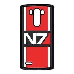 Mass Effect Funda LG G3 Funda del teléfono celular de la caja del teléfono Caso Negro G7W5WM4N plástico para las mujeres