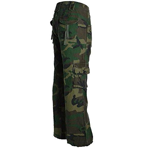 Mujeres Senoritas Bajo Himalaya Militar Molecule De Pantalones Algodon Camuflaje Estilo Bosque Para Calidad 45062 Europeo Combate Alta 100 Tiro FIY77wdq