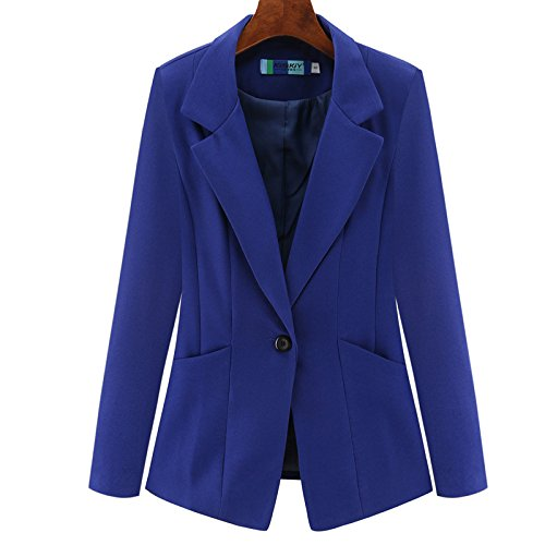 Woman'S Coat Sleeved blue A Jacket Suit Long A Size Slim Small Suit Long A Large Lady'S Xuanku wq1xOXIq