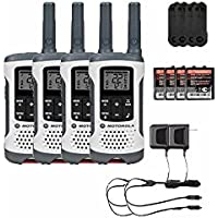 Motorola T260 Rechargeable Two-Way Radios / Walkie Talkies 4-PACK