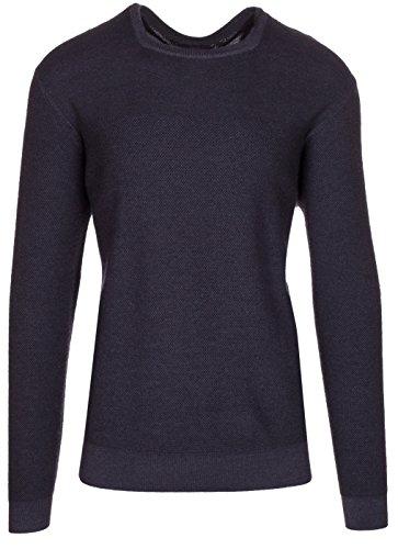 (Armani Collezioni Men's Dark Grey 100% Wool Pullover Knitwear High Neck Sweater, EU 60 / US 4XL,)