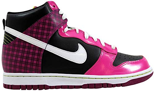 Nike Grade-School Dunk High Black/White-Desert Pink Sneakers 6