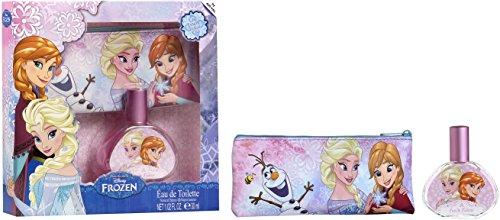Air-Val Disney Frozen Duft Geschenk-Set: Anna & Elsa Eau de Toilette 30ml im schönen Glasflakon inklusive Kosmetiktäschchen ()