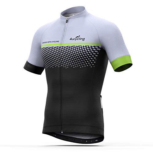 Men s Short Sleeve Cycling Jersey Full Zip Moisture Wicking f04bc9cf4