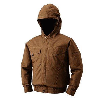 空調服 フード付綿薄手長袖ブルゾン リチウムバッテリーセット BM-500FC20S3 キャメル L[通販用梱包品] B07DGTX86Y