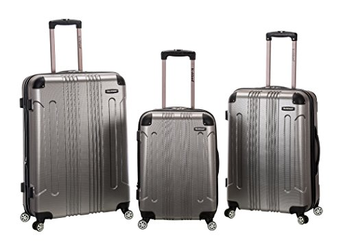 Rockland 3 Piece Sonic Abs Upright Set, Silver, One (Upright Silver Hardside Luggage)