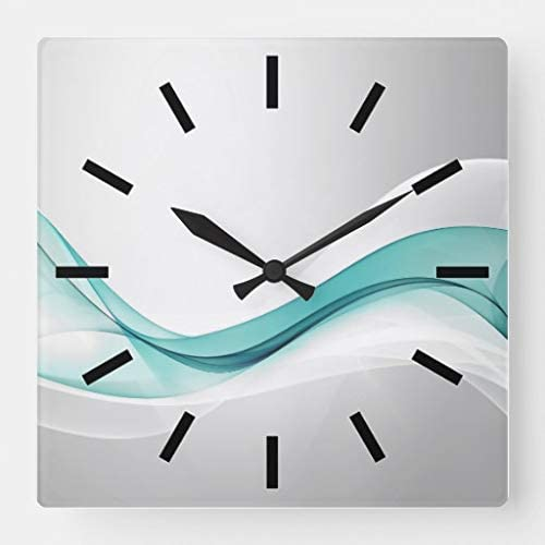 Wall Clock Mosaic Turquoise Black White Colorful Art Modern Design Clock Unique Wall Decor