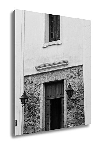 Ashley Canvas Doorway Of Basilica Of The Holy Sacrament In Colonia Del Sacrame, Wall Art Home Decor, Ready to Hang, Black/White, 20x16, AG6512167 by Ashley Canvas