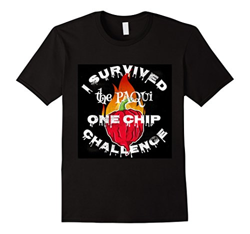 Mens Paqui One Chip Challenge Ghost Pepper Survival Swag T-Shirt 2XL Black Chip And Pepper Clothes