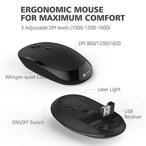5624a49bfe4 iClever GK03 Wireless Keyboard and Mouse Combo - 2.4G Portable - Import It  All