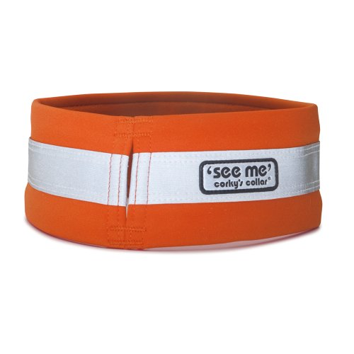 Corky's See-Me Dog Collar, Xlarge, Oh My Orange, My Pet Supplies