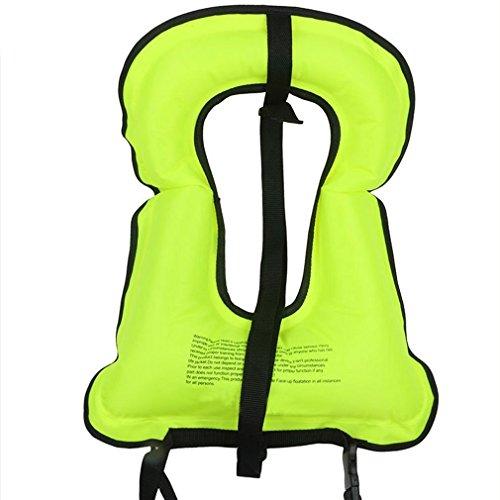 Rrtizan Adult Inflatable Snorkel Vest Portable Life Jacket for Swimming Safety