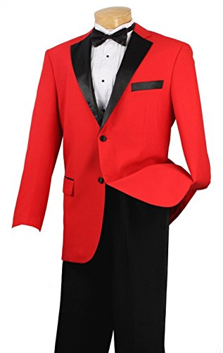 SUITS OUTLETS Men's Prom Tuxedo Collection With Fancy Lapel 2 Button - Chicago Outlets Fashion If