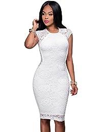 Vestidos Ropa De Moda Para Mujer De Fiesta Casuales Largos Blancos Sexys De Encaje y Noche Elegantes VE0034