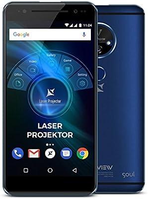 Allview X4 Soul Vision 5.5 Pulgadas Smartphone con proyector láser Integrado de hasta 200 Pulgadas, Huella Dactilar, 32 GB Flash, Dual SIM, Android ...