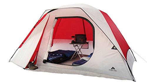 OZARK Trail Family Cabin Tent (White/Red, 6 Person) ()