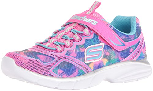 Skechers Kids Girls' Spirit Sprintz Sneaker, Neon Pink/Multi, 12 M US Little Kid