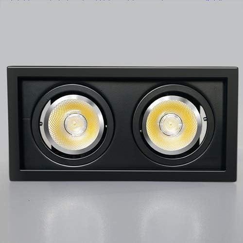 Unbekannt HSB LED Black Embedded Downlight, Aluminium