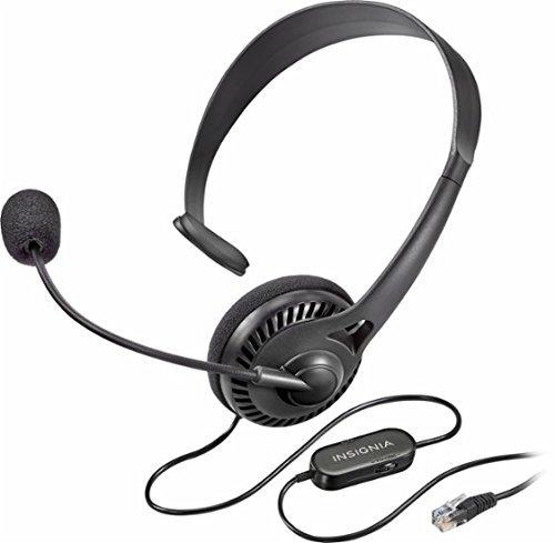 Office Telephone Headset (Insignia - Landline Phone Hands-Free Headset Black NS-MCHMRJ9P)