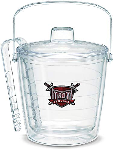 Tervis 1042992 Troy Trojans Sword Ice Bucket with Emblem and Clear Lid 87oz Ice Bucket, Clear