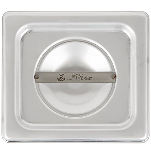TableTop King 1/6 Size Solid Stainless Steel Steam Table / Hotel Pan Cover by TableTop King