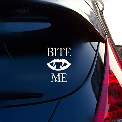 Anyet 10.4Cm13.6Cm Bite Me Sexy Vampire's Kiss Lips Car Sticker Decal for car Laptop Window Sticker